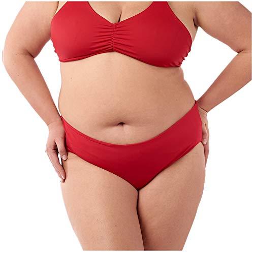 Fused Hawaii Kona Cheeky Bikini Bottom | Ruched Back Detail | Swimsuits for Active Women, Lava, 3X