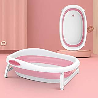 Shnuggle Baby Bath, Baby Bath Tub Newborn 2-in-1 Shower/Bath, Portable Bathtub Stable Non-Slip, Pink, (Support 0-5 Years)