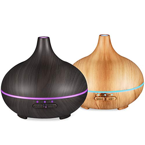 VicTsing 150ml Essential Oil Diffuser , Wood Grain Cool Mist
