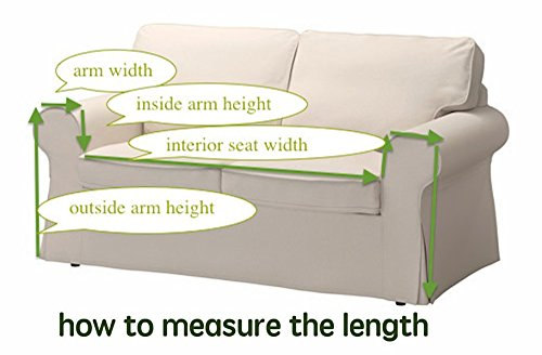 "KARUILU home Sofa Cover 1 Piece Heavy Weight Fabric, Sofa Protector Slipcover with Pins for Kids and Pets, Machine Washable (83"" W x 118"