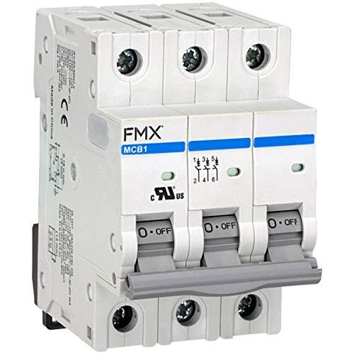 480 VAC 3-Pole FMX Supplementary Protector B Curve 50A UL 1077 5 kA