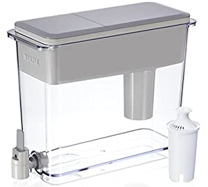 Brita Pitchers Brita 18 Cup UltraMax Water Dispenser with 1 Filter, BPA Free, Gray, by Brita Pitchers