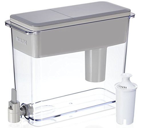 Brita 18 Cup UltraMax Water Dispenser with 1 Filter, BPA Free, Gray
