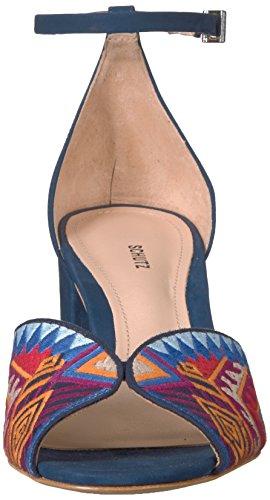 Schutz Donna Blu Trisha Vestito Tacco Sandalo 7BFrq7n