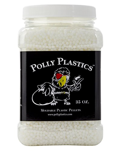Moldable Plastic Pellets by Polly Plastics (35 oz) | Thermoplastic Beads | Cosplay, Projects, Repairs ()