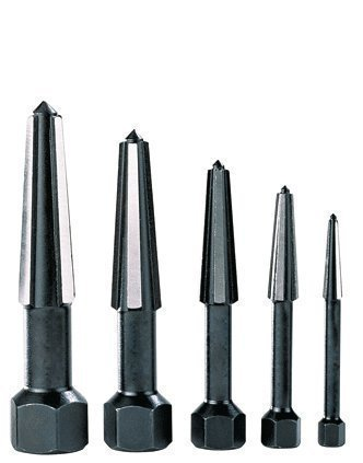 Rennsteig Dual-edged (Easy Out) Screw Extractors 5-piece Set in Plastic Tube 5 Screw Extractor Set