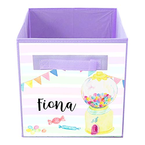 (Toad and Lily Gum-Ball Machine Candy Bin Kid's Personalized Bedroom Baby Nursery Organizer for Toys or Clothing FB0235)