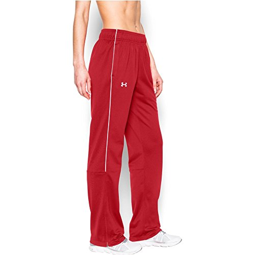 - Under Armour Women's UA Rival Knit Warm up Pant (Red, Medium)