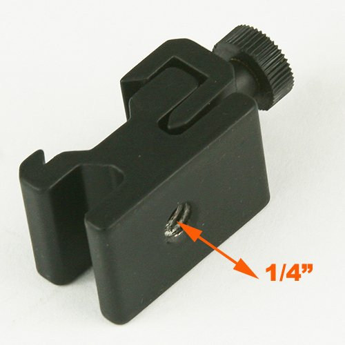 ePhotoInc Swivel Portable Flash Clamp with Hot Shoe Mount Flash Adapter H6804SH-B