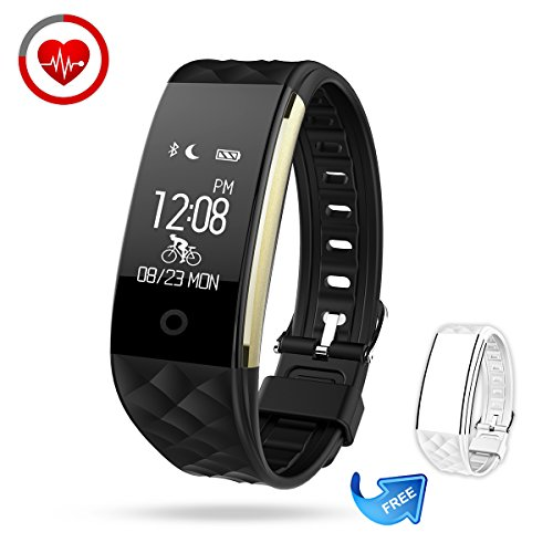 Fitness Tracker Semaco Heart Rate Monitor Wireless Smart Bracelet Waterproof Activity Tracker Pedometer Wristband Sleep Monitor Fitness Watch with Replacement Band for Cycling
