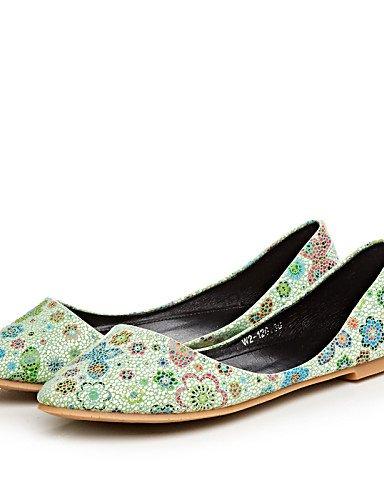 almond casual de us8 uk6 Flats cn39 plano carrera zapatos eu39 verde mujeres blanco talón vestido señaló almendra PDX y las Toe oficina azul OwqUH