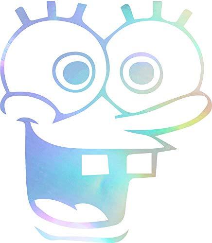 (ANGDEST Spongebob Squarepants (Hologram) (Set of 2) Premium Waterproof Vinyl Decal Stickers for Laptop Phone Accessory Helmet Car Window Bumper Mug Tuber Cup Door Wall)