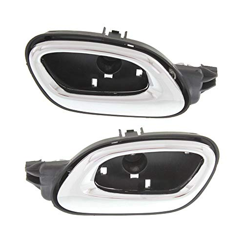 s Set of 2 Front Left and Right Side Plastic Chrome compatible with Chevrolet Chevy Camaro ()