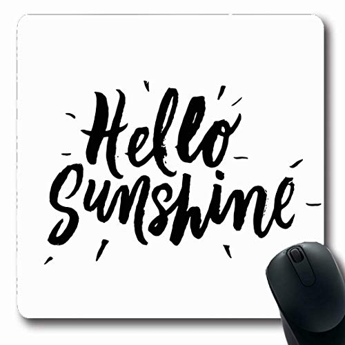 (Ahawoso Mousepads Motivation Write Hello Sunshine Inspirational Motivational Quotes Hand Abstract Text Lettering Drawn Oblong Shape 7.9 x 9.5 Inches Non-Slip Gaming Mouse Pad Rubber Oblong Mat)
