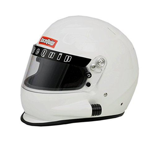 RaceQuip 293115 Gloss White Large PRO15 Side Air Model Full Face Helmet (Snell SA-2015 Rated)