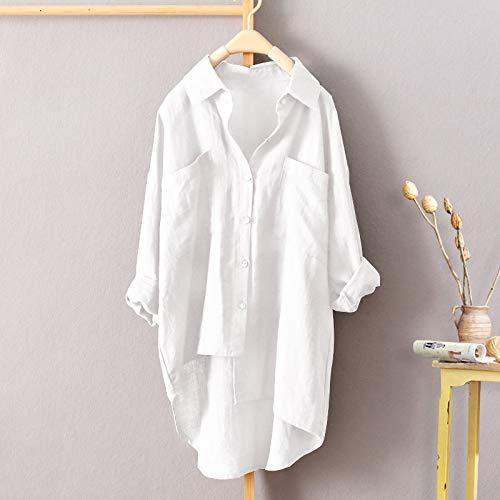 Veste Basse Femmes dcontracts et de Vtements Femmes AMUSTER Haute Sport Sweat de Unie Couleur Blanc Automne pour Chemise asymtrique 0qwSndX