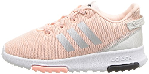adidas Kids CF Racer TR Running Shoe, Haze Coral/Metallic Silver/White, 6K M US Toddler by adidas (Image #5)