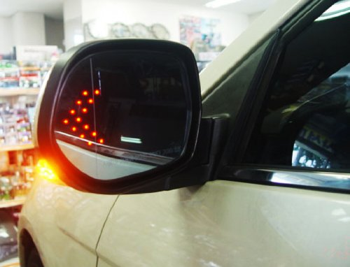 Ijdmtoy Universal Fit Ultra Slim 14 Smd Side Mirror Led