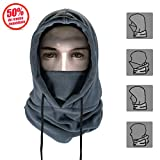 Joyoldelf Thermal Balaclava Face Mask Outdoor Sports Mask Hood Hat (Grey)
