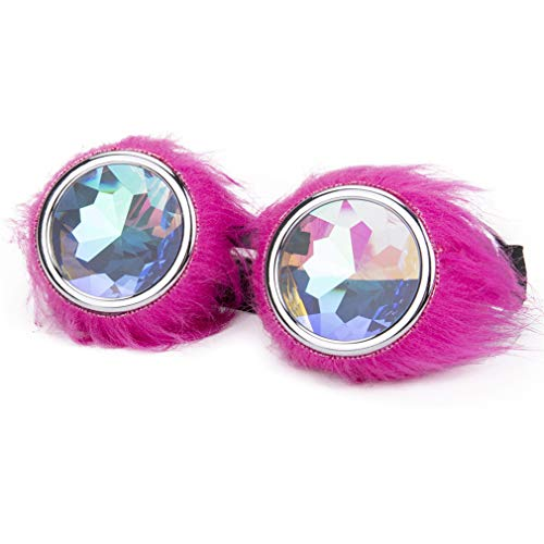 Halloween Party Steampunk Goggles Kaleidoscope Goggles Pink Villus Cospaly Glasses Eyewear ()