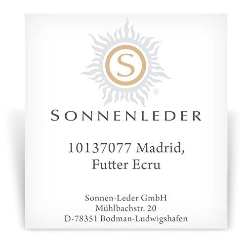 """Soleil de haute qualité en cuir """"Madrid couleur: Mocca, doublure intérieure: Ecru * Cuir véritable *"""
