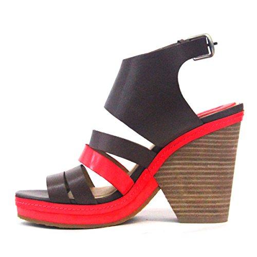 Lucky Brand cómodo cuña talón sandalias con strap-leather de tobillo para las mujeres