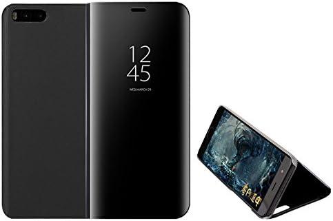 Funda® Espejo Enchapado Flip Funda para Xiaomi Mi Note 3 (Negro ...