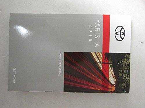 2018 Toyota Yaris iA Owners Manual Guide Book