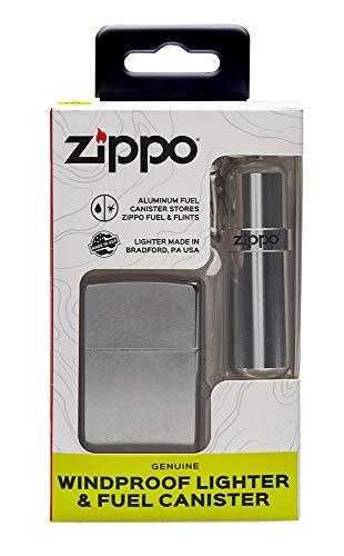 (Zippo Street Chrome Lighter & Fuel Canister Set)