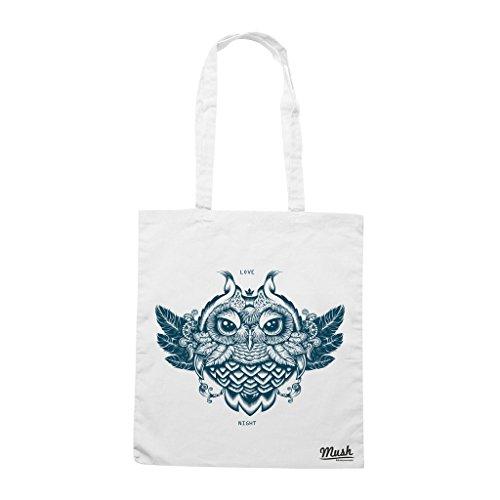 Borsa OWL - Bianca - MUSH by Mush Dress Your Style