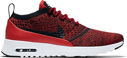 Nike Air Max Thea Ultra FK Womens Running Trainers 881175 Sneakers Shoes (US 9, university red black white 601) (Nike Air Max Thea Black And Red)
