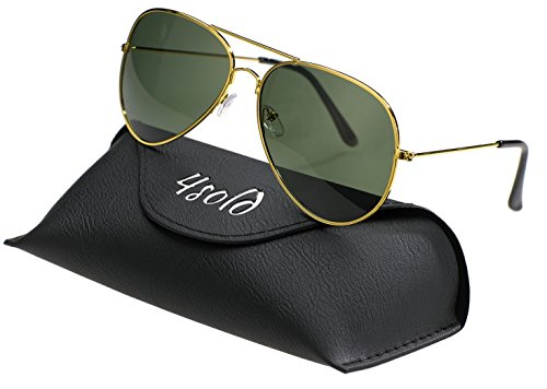 Hombre con Gold el de 4sold sol caso 400 conducción de Protección Aviador UV gafas polarizado Black zqnndTCZ8w