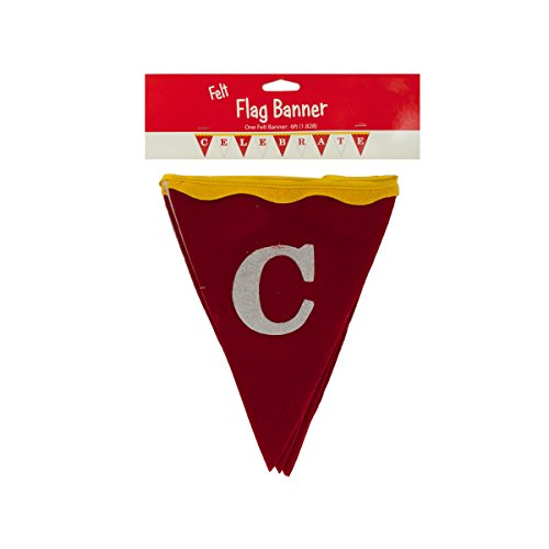 Big Top Celebrate Felt Flag Banner - Pack of 144 by bulk buys