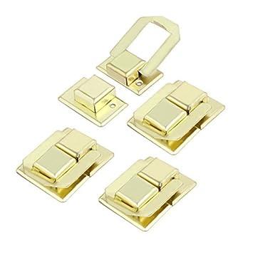 eDealMax caja de herramientas caja de regalo Garantía de 38 mm Caso Longitud Cierre Broche Cierre Catch 4pcs tono dorado - - Amazon.com