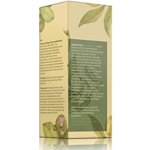 41Ba lEJAbL - All Natural Face Serum Moisturizer - Vegan Anti Aging Anti Wrinkle Hydrating Daily Facelift Serum for Facial Dry Skin by Aya Natural
