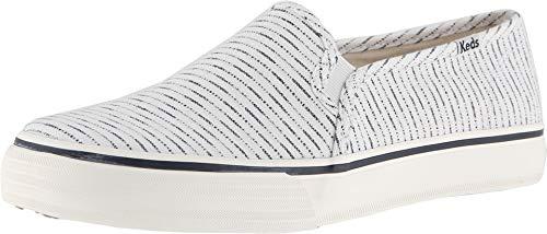 (Keds Women's Double Decker Baja Stripe Sneaker, Cream, 7)