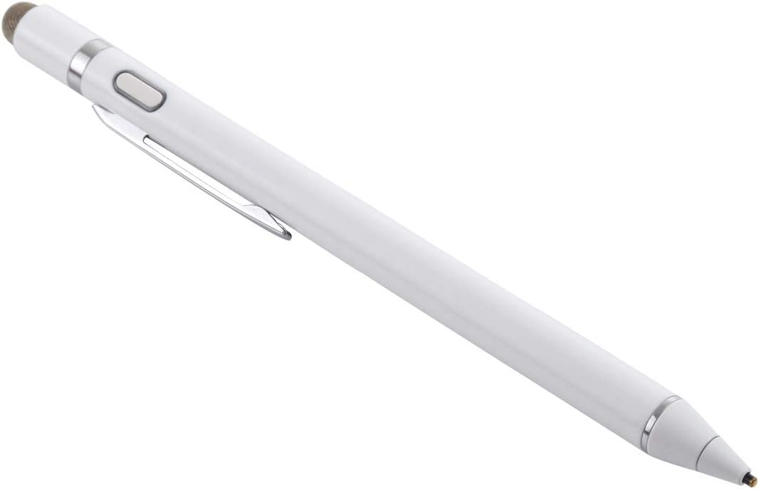 Color : White 1.5-2.3mm Rechargeable Capacitive Touch Screen Active Stylus Pen