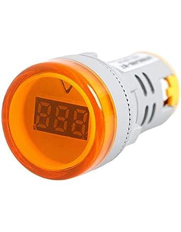 Dabixx 22 mm CA 60V-450V Pantalla Digital Indicador de Luces de voltímetro Combo