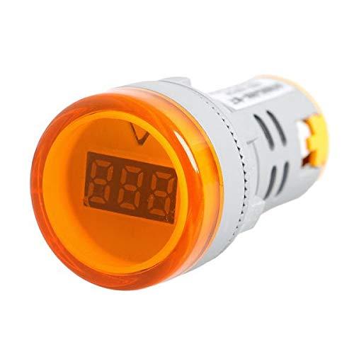 AC 60V-450V Digital Display Voltmeter New 22 MM Lights Combo Indicator