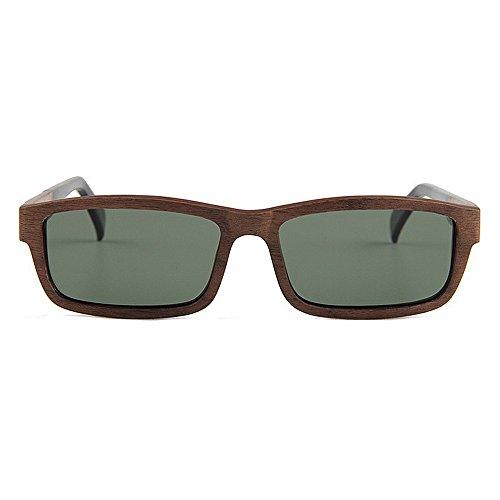 lunettes la soleil lunettes bois de conduite main de soleil de main à Lunettes protection soleil de de polarisées de haute en de soleil lunettes UV de Noir Marron de qualité Couleur plage à la UV de HqYztx5