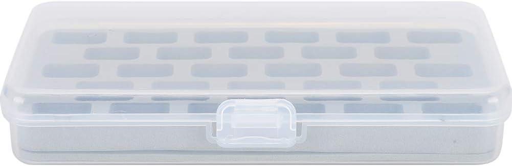 28 Steckpl/ätze Spulenbox Leere Spulen Spulenhalter f/ür die Aufbewahrung von Kunststoffgewinden f/ür N/ähmaschinen Zerodis Spulen-Aufbewahrungskoffer