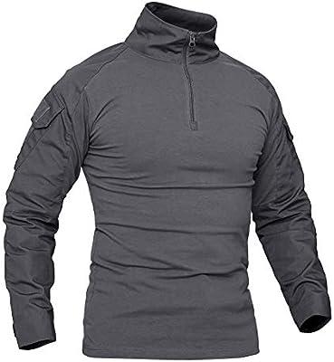 KEFITEVD Camisa de Camuflaje Hombres Flecktarn BDU Táctico Uniforme Woodland Entrenamiento Juego de Guerra Camisa Militar Transpirable Gris XL (Etiqueta: 3XL): Amazon.es: Deportes y aire libre