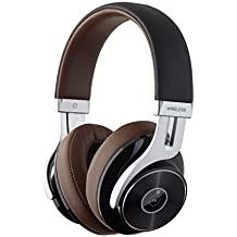 Edifier W855BT Noise Cancelling Bluetooth Headphones with Microphone, Hi-Fi Deep Bass Wireless Headphones Over Ear, Comfortable Protein Earpads for Travel Work Sports TV Computer Iphone Ipad - Brown