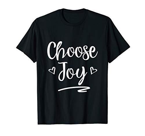 (Choose Joy Christian Women Inspirational Faith T-Shirt)