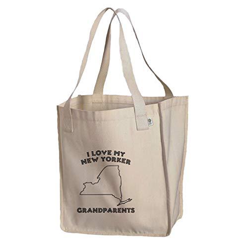 (I Love My New Yorker Grandparents NY Organic Cotton Market Tote Bag)
