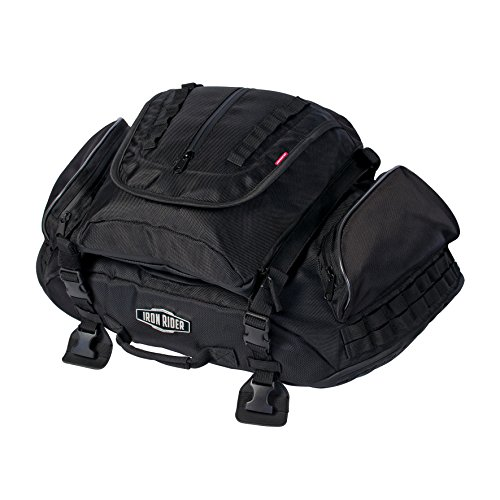 Dowco Iron Rider by 04890 Water Resistant Reflective Rumble Motorcycle Tail Bag: Black, 38 Liter Capacity (Iron Rider Cruiser)