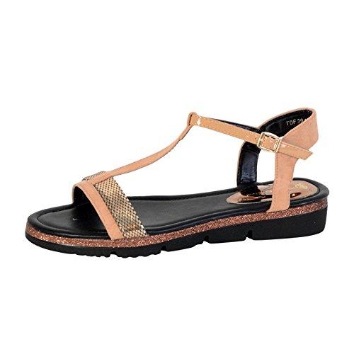 """Sandalias de las señoras """" La Divina Fábrica TDF2948 Camello Camel"""