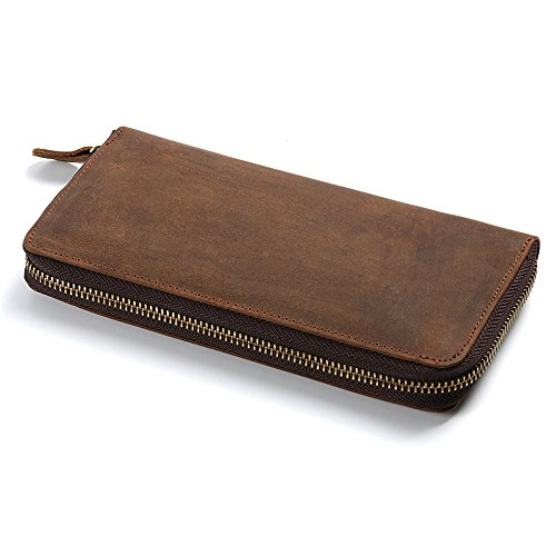 Women's Men's Purse and Pocket Package Bag Leather Wallet Leather Pocket Classic Wallet Hand Package Mens Wallet Contracted General Portable Certificate Crystalzhong Card Business wvYIFn