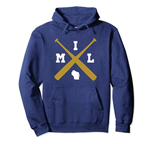 Vintage Milwaukee Baseball Wisconsin State Outline Hoodie