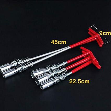 strumento di rimozione per fissaggio e demolizione del manicotto per candela di accensione manico a T Chiave universale per candele di accensione SENRISE